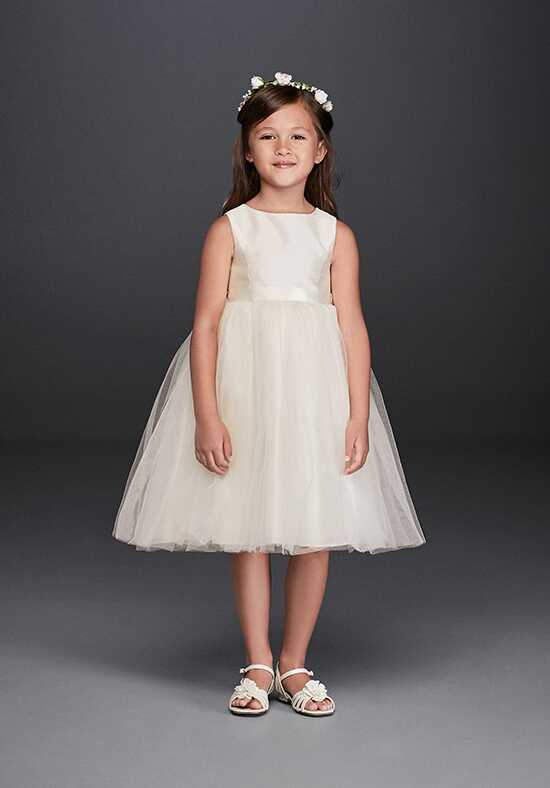 David's Bridal David's Bridal Style OP218 Ivory Flower Girl Dress