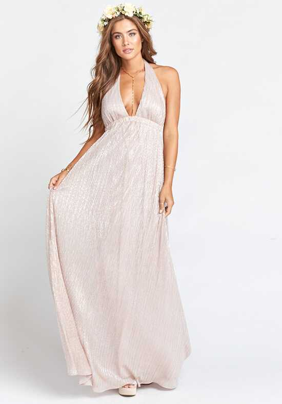 Show Me Your Mumu Luna Halter Dress - Magic Mauve Glimmer Halter Bridesmaid Dress