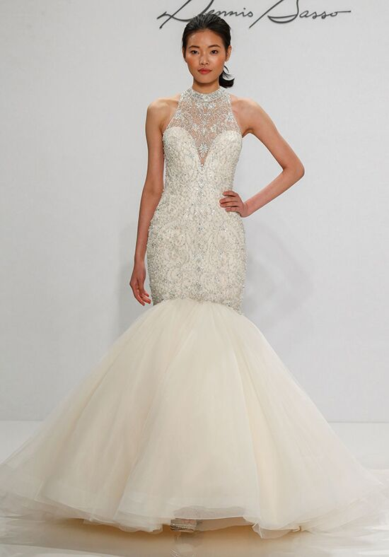 Dennis basso for kleinfeld 14114n wedding dress the knot for Kleinfeld mermaid wedding dresses