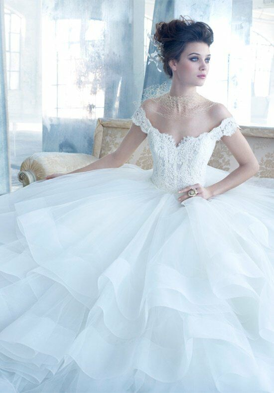 Lazaro 3309 Ball Gown Wedding Dress