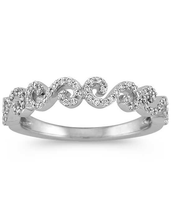 shane co round diamond swirl wedding band in 14k white gold white gold wedding ring - Rings Wedding