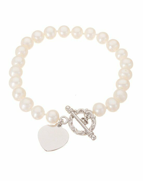 Thomas Laine Freshwater Pearl Sterling Silver Heart Toggle Bracelet Wedding Bracelet photo