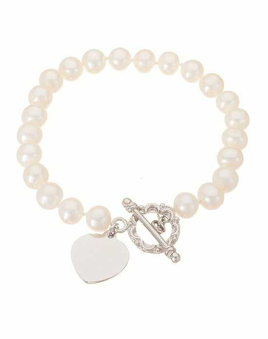 Thomas Laine Freshwater Pearl Sterling Silver Heart Toggle Bracelet
