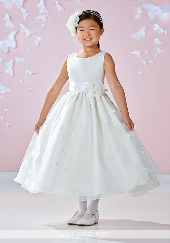 Joan Calabrese by Mon Cheri 117358 Ivory Flower Girl Dress