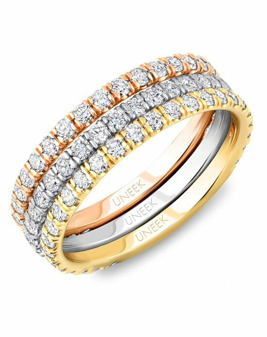 Uneek Fine Jewelry LVB149 Rose Gold,White Gold,Gold Wedding Ring