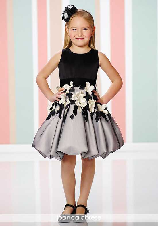 Joan Calabrese by Mon Cheri 216321 Black Flower Girl Dress