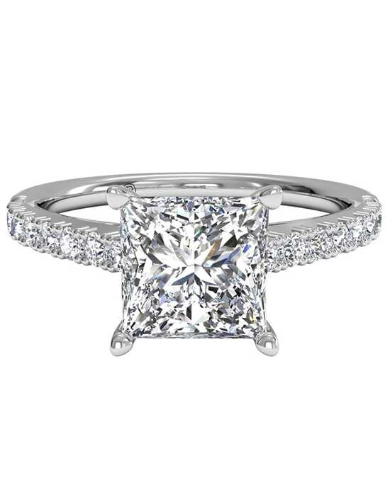 rings shaped square band french cut quality ritani diamond engagement fashion set princess ring