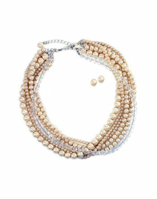 Anna Bellagio Eleanora Multi-Strand Pearl Necklace and Earring Set Wedding Earring photo