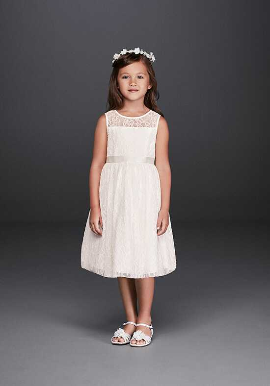 David's Bridal Flower Girl David's Bridal Style OP226 White Flower Girl Dress