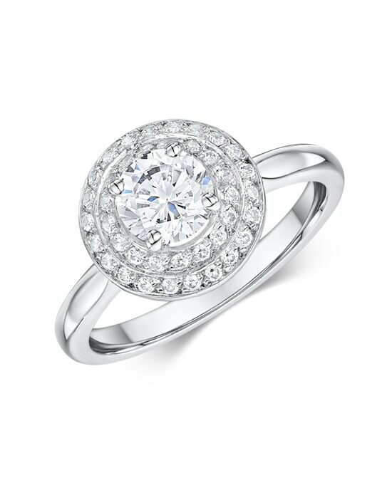 "Say ""Yes!"" in Platinum Vintage Round Cut Engagement Ring"