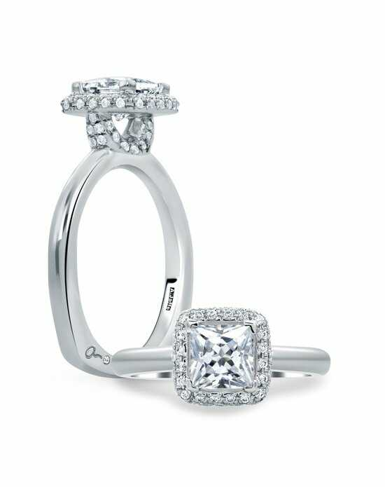A.JAFFE Princess Cut Delicate Pave Bridal Engagement Ring, MES671 Engagement Ring photo