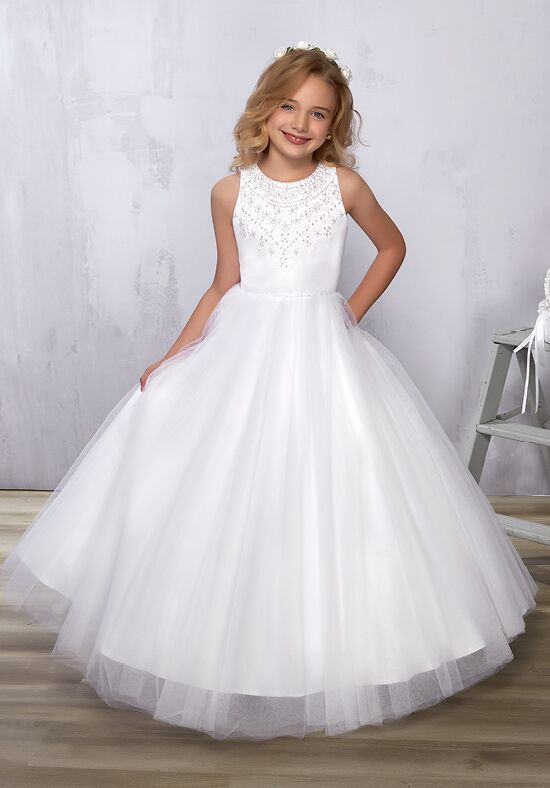 Cupids by Mary's F571 White Flower Girl Dress