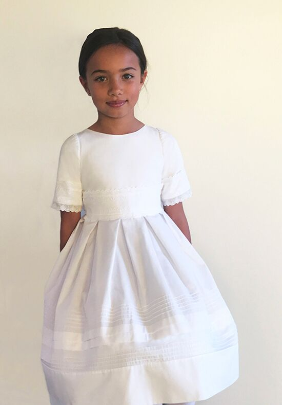 Isabel Garretón Glory White Flower Girl Dress