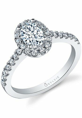 Sylvie Collection SY999 pear Platinum, White Gold Wedding Ring