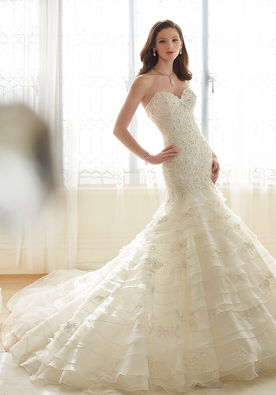Sophia tolli y11628 princess wedding dress the knot for Princess mermaid wedding dresses