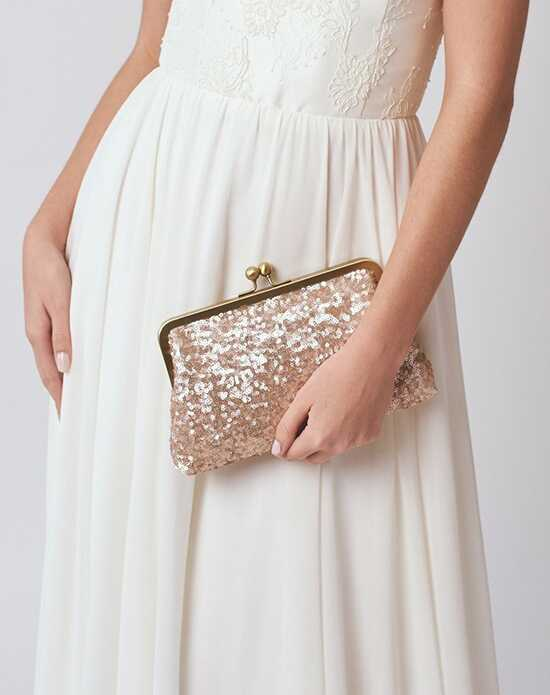 Davie & Chiyo | Clutch Collection Ella Clutch Gold, Pink, Champagne Clutches + Handbag