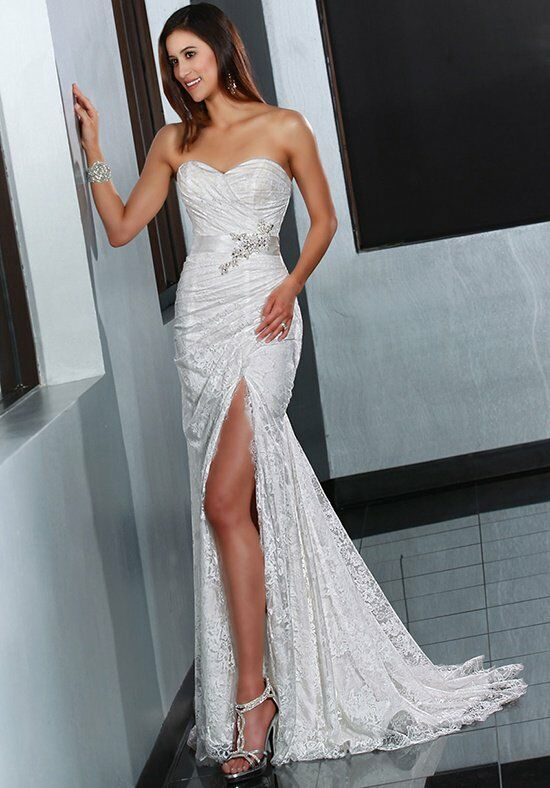 DaVinci Bridal 50200 Sheath Wedding Dress