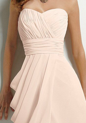 Jordan 379 Strapless Bridesmaid Dress