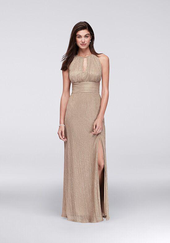 David's Bridal Mother of the Bride 9283 Gold Mother Of The Bride Dress