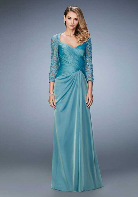 La Femme Evening 21805 Blue Mother Of The Bride Dress