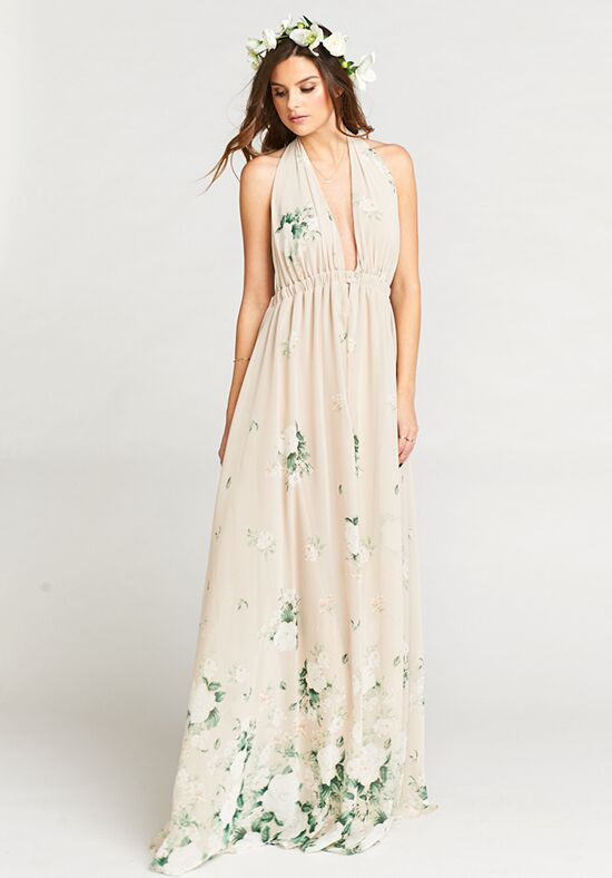 Show Me Your Mumu Luna Halter Dress - Bouquet Toss Halter Bridesmaid Dress