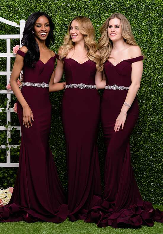 Jovani Bridesmaid 49254 Off the Shoulder Bridesmaid Dress