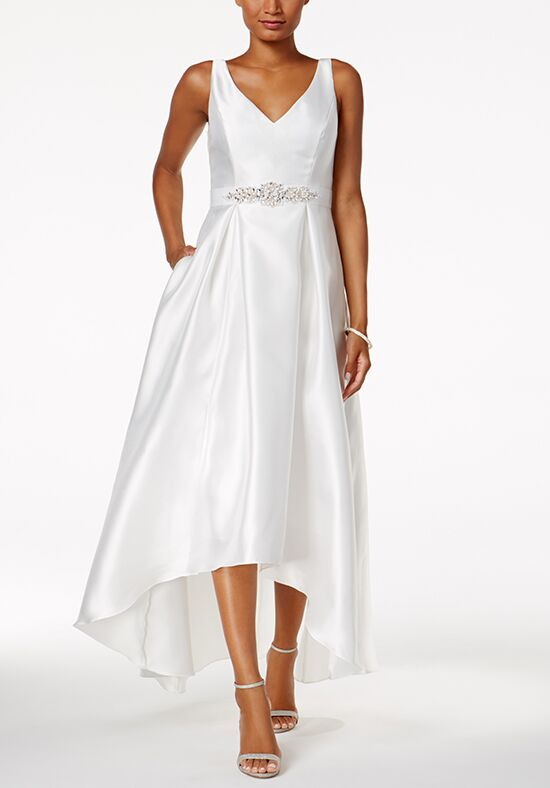 Adrianna Papell Wedding Dresses Adrianna Papell Embellished High-Low Gown Ball Gown Wedding Dress