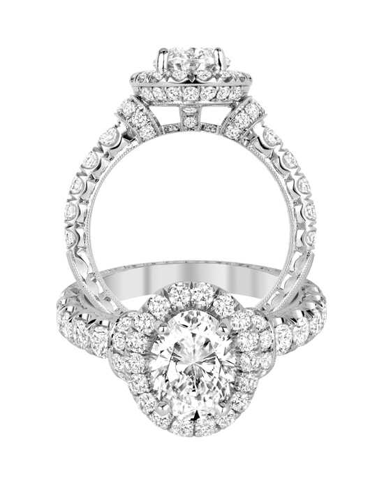 Jack Kelege Unique Oval Cut Engagement Ring