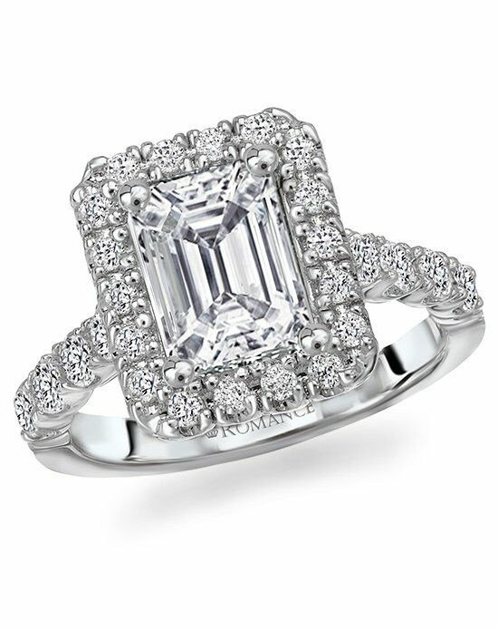 Romance Emerald Cut Halo Ring 117055 Engagement Ring - The ...
