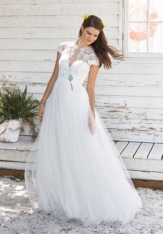 Lillian West 66038 A-Line Wedding Dress