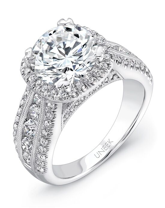 Uneek Fine Jewelry Round Cut Engagement Ring