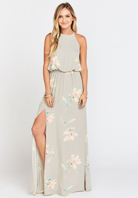 Show Me Your Mumu Heather Halter Dress - Lily Showers Halter Bridesmaid Dress