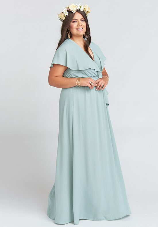 Show Me Your Mumu Audrey Maxi Dress - Silver Sage Crisp Bridesmaid ...