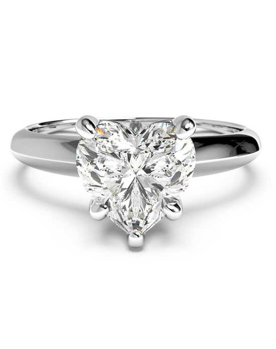 ritani solitaire diamond knife edge engagement ring - Heart Shaped Wedding Rings