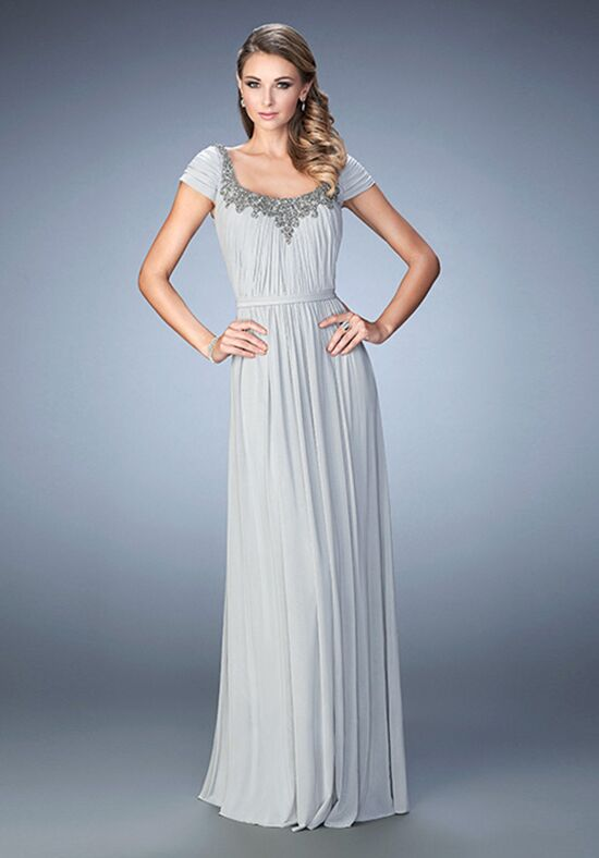 La Femme Evening 21826 Silver Mother Of The Bride Dress