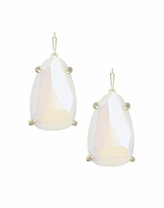 Kendra Scott Kristina Drop Earrings in White Iridescent Wedding Earring photo