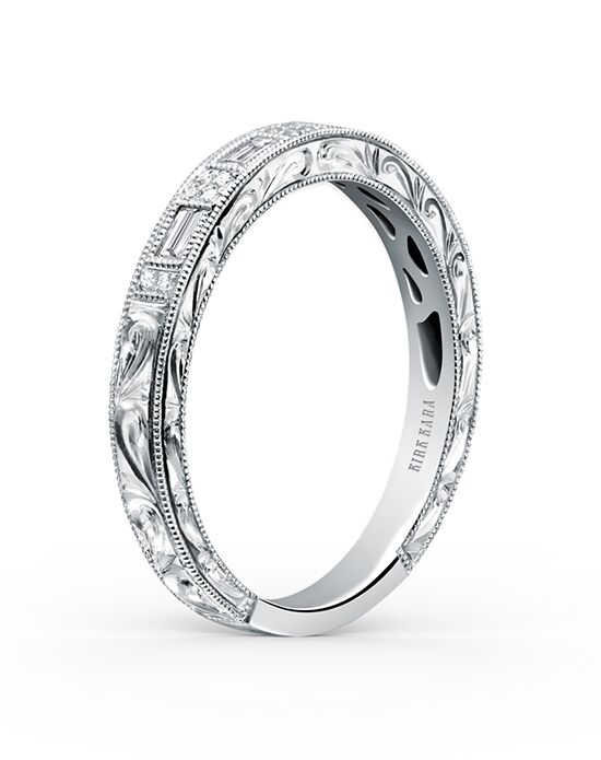 Kirk Kara Charlotte Collection K138-B White Gold Wedding Ring