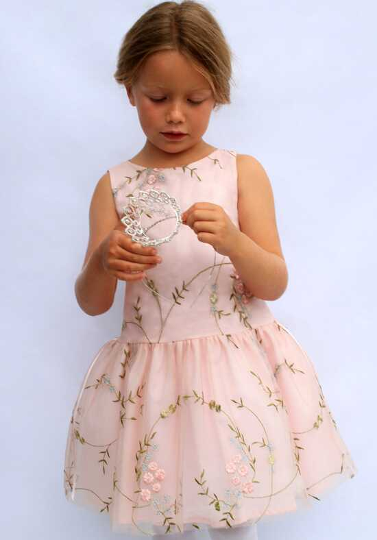 Isabel Garretón Festival Pink Flower Girl Dress