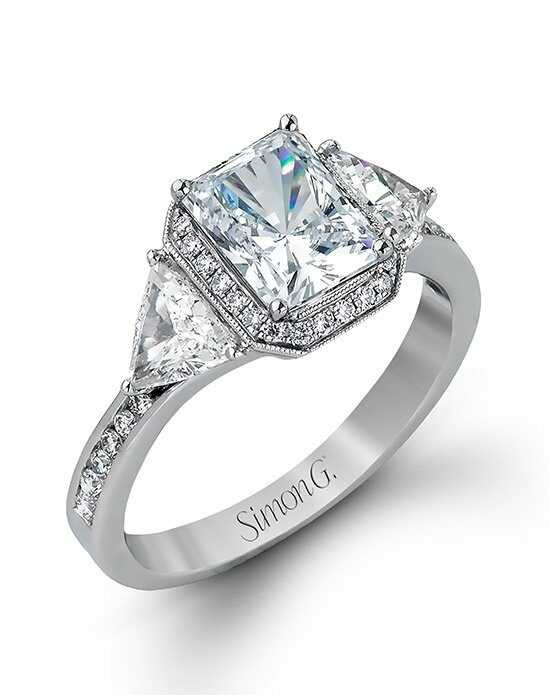 simon g jewelry - Emerald Cut Wedding Rings