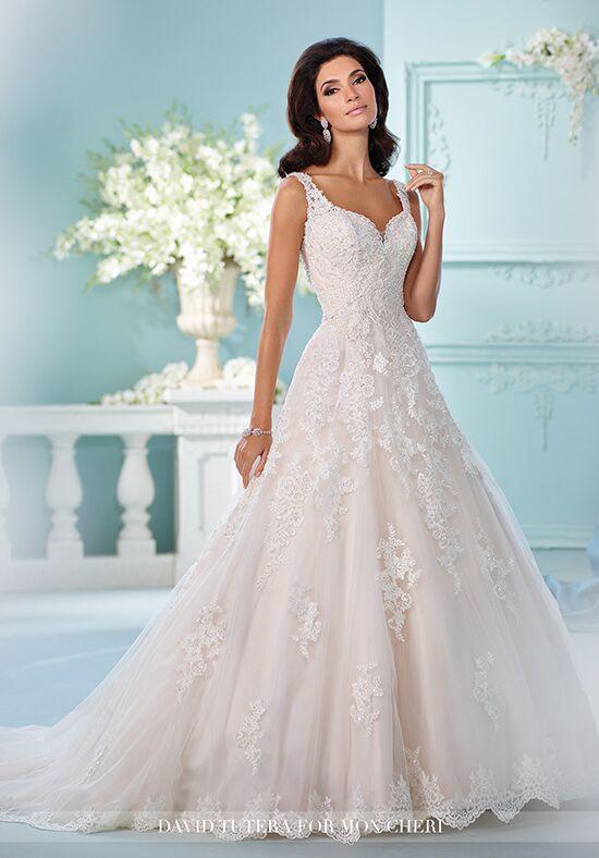 4815cdcff8 David Tutera For Mon Cheri 216248 Violet A-Line Wedding Dress. David Tutera  Spring 2017 sleeveless blush mermaid wedding dress with ivory lace  embroidery