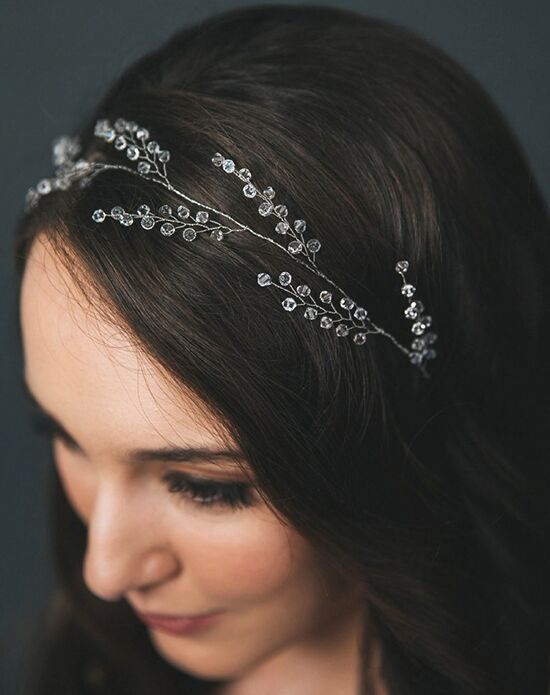 Davie & Chiyo | Hair Accessories & Veils Priya Hair Wreath Gold, Silver Headband