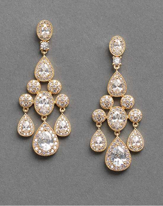 Dareth Colburn Anna Gold CZ Earrings Wedding Earring photo