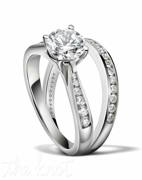 Jeff Cooper R-3266 & R-3266/B Platinum, White Gold Wedding Ring