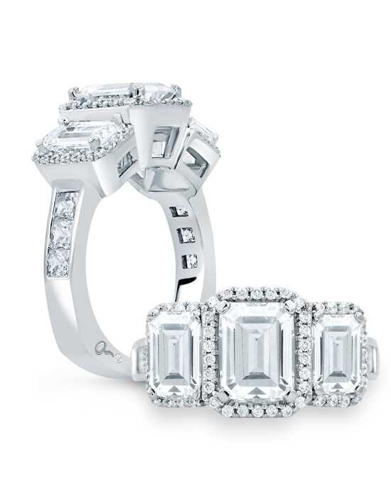 A.JAFFE Emerald Cut Engagement Ring