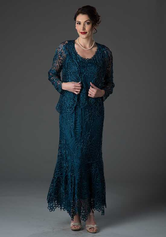 LuxeLace by Soulmates C9127 Blue Mother Of The Bride Dress