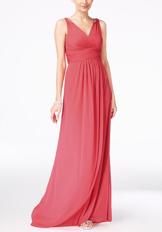 Adrianna Papell Adrianna Papell Ruched Embellished Gown Bridesmaid ...