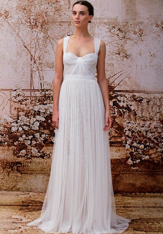 Monique Lhuillier Marcella Sheath Wedding Dress
