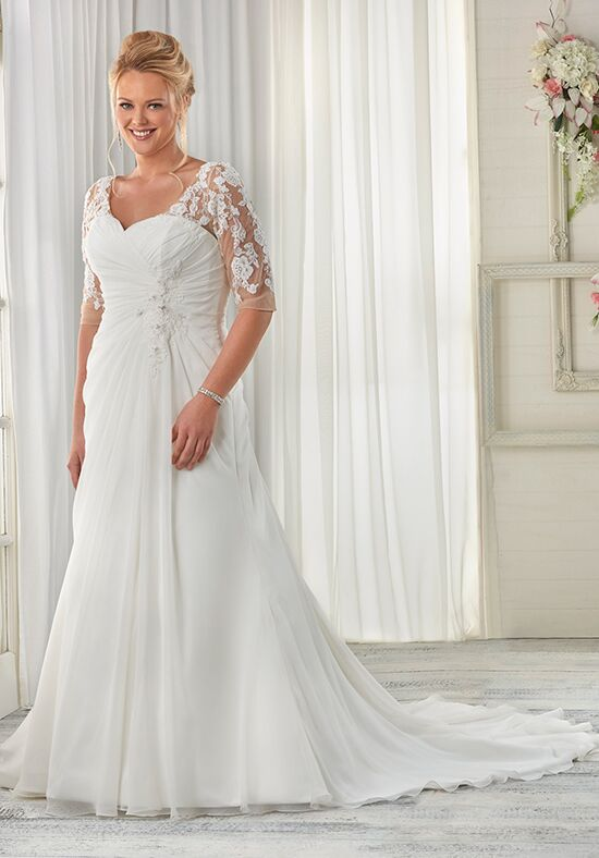 Unforgettable by Bonny Bridal 1608 Sheath Wedding Dress