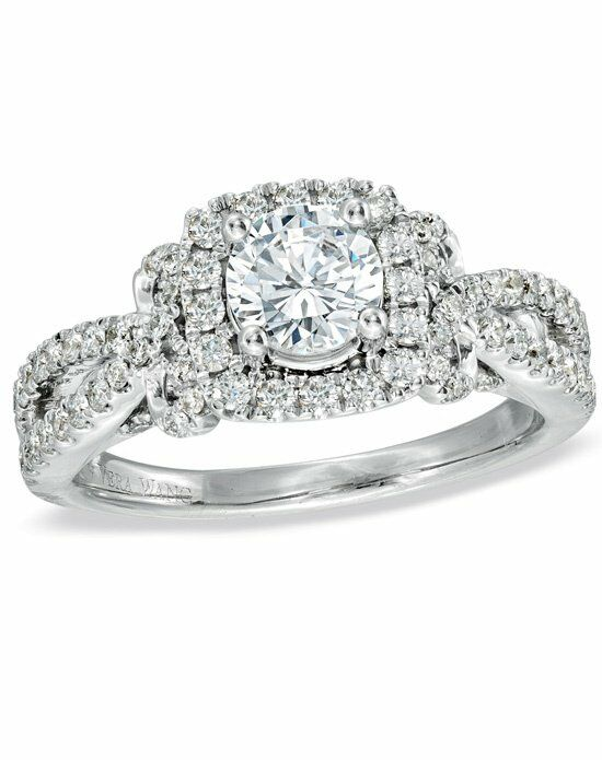 Vera Wang LOVE at Zales Vera Wang LOVE Collection 1-1/2 CT. T.W. Diamond Bow Engagement Ring in 14K White Gold 19491497 White Gold Wedding Ring