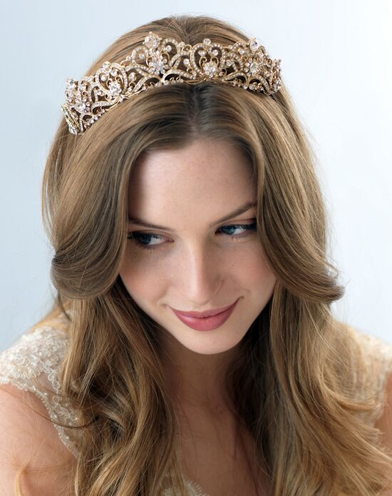 USABride Romance Bridal Gold Crown TI-3173-G Gold Tiara